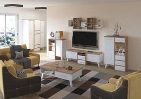 MEBLOCROSS Nordis obývacia izba sonoma svetlá / biela