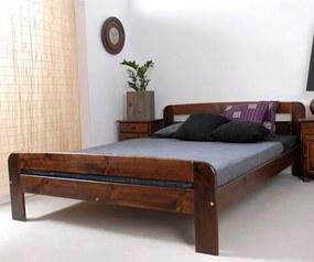 AMI nábytok Posteľ orech Nastěnka 160x200