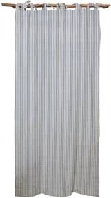 Modrý záves Linen Cuture Cortina Hogar Blue Marine Stripes