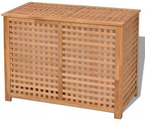 Skrinka na bielizeň z masívneho orechového dreva, 89x46x67 cm