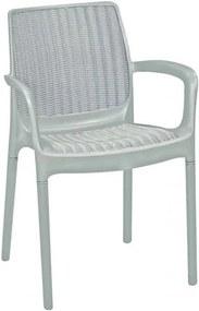 KETER BALI MONO záhradná stolička, 55 x 60 x 83 cm, biela 17190206