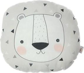 Detský vankúšik s prímesou bavlny Mike & Co. NEW YORK Pillow Toy Argo Bear, 30 x 33 cm