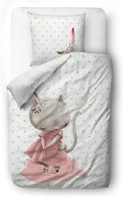 Butter Kings Detské saténové obliečky do postieľky Forest school little mouse, 100 x 130 cm, 40 x 60 cm
