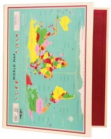 2-krúžkový organizér Rex London World Map, 32x26cm