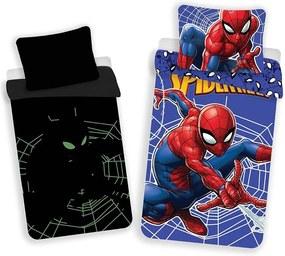 JERRY FABRICS Obliečky Spiderman svietiace v tme Bavlna 140/200, 70/90 cm