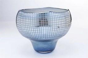 Modrá váza Kare Design, výška 28 cm