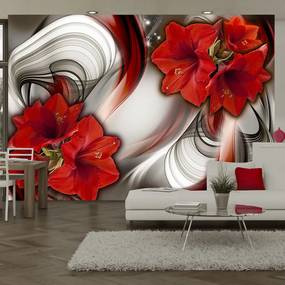 Fototapeta - Amaryllis - Ballad of the Red 300x210 cm