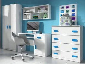 ID Nábytková stena Svend - biela,modrá