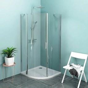 POLYSAN - ZOOM LINE štvrťkruhová sprchová zástena 1000x1000mm, číre sklo, ľavá (ZL2616L)