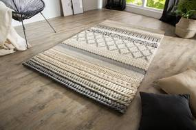 Dizajnový koberec Rebecca 200x120 cm / sivá pletenina