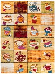 Detský kusový koberec Cukráreň oranžový, Velikosti 140x190cm