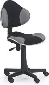 HALMAR Flash detská stolička na kolieskach čierna / sivá