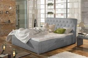 Veľká manželská posteľ čalúnená 200 x 200 cm Mia