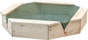 WOODY Pieskovisko drevené prírodné