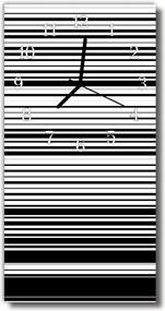 Nástenné hodiny vertikálne  Vintage šedý remeň