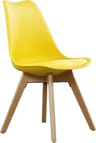 CROSS II jedálenská stolička, žltá