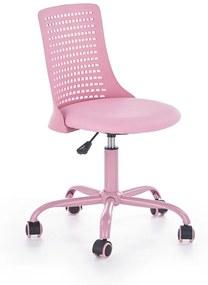 HALMAR Pure detská stolička na kolieskach ružová