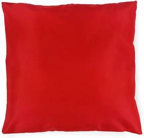 Záhradný vankúš červený štvorec - 45x45 cm