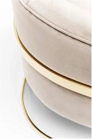 Béžové kreslo s detailmi v zlatej farbe Kare Design Pure Elegance