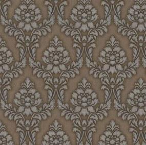 Vliesové tapety na stenu zámocký vzor sivý na hnedom podklade 10m2 PROFI ROLL - dve rolky v jednej