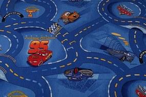 MAXMAX Detský koberec CARS modrý