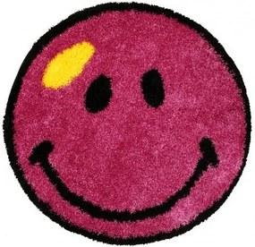 Kusový koberec Shaggy vlas 30mm Smile fialový, Velikosti 100x100cm