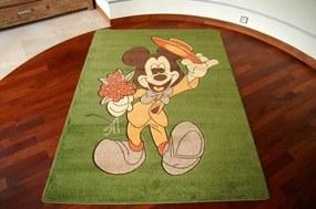 3kraft Detský koberec HAPPY MICKEY MOUSE zelený