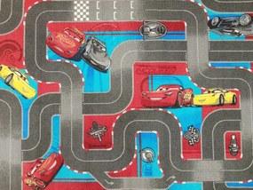 Associated Weavers koberce Dětský kusový koberec CARS III Streetmap (Auta) - 95x133 cm