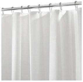 Biely sprchový záves iDesign PEVA Liner, 183 x 183 cm