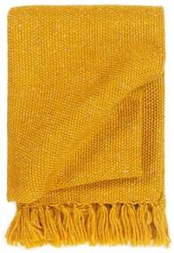 vidaXL Deka, lurex 160x210 cm, horčicovo žltá