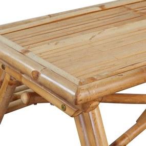 vidaXL Piknikový stôl z bambusu, 120x120x78 cm