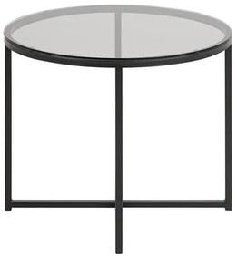 Cross R55 príručný stolík sklo / čierny