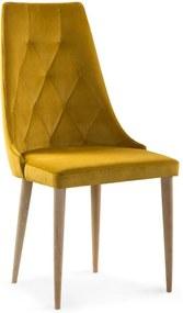 DREVONA30 Jedálenská stolička medová žltá dubové nohy CAREN II