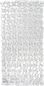 Transparentná protišmyková kúpeľňová podložka Wenko Drop, 71 × 36 cm