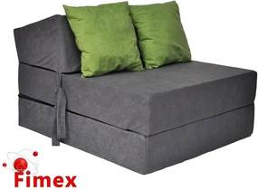 Fotel rozkladací šedý