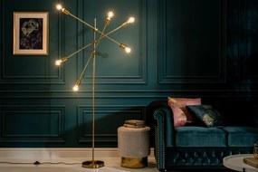 Dizajnová stojanová lampa Walter zlatá