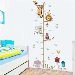 Veselá Stena Samolepka na stenu Detský meter Zvieratká zo ZOO
