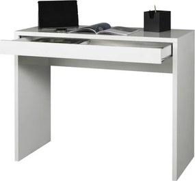 Sconto Písací stôl OSTARA biela/vysoký lesk