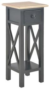 vidaXL Príručný stolík, čierny 27x27x65,5 cm, drevo