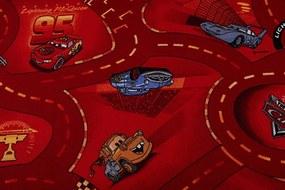 MAXMAX Detský koberec CARS červený červená