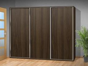 Nabytekmorava šatníková skriňa s posuvnými dverami Alfa 35 farba lamina: orech 729
