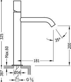 TRES - Jednopáková umyvadlová baterie (26130701ACD)
