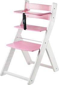 Detská rastúca stolička LUCA - ružová Luca - ružová