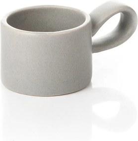 svietnik na čajovú sviečku keramicky svetlo šedy 8x5x4cm