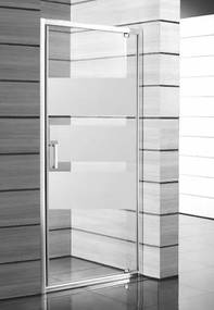 Sprchové dvere Jika Lyra plus jednokrídlové 80 cm, nepriehľadné sklo, biely profil H2543810006651