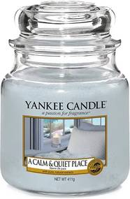 Sviečka v sklenenej dóze Yankee Candle Pokojné a tiché miesto, 410 g