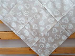 Štvorcový bavlnený obrus BS 90x90