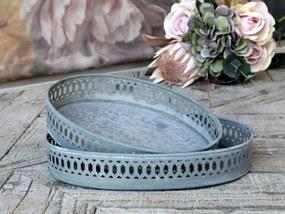 Chic Antique Zinková tácka Lace Border Antique Zinc Väčšia