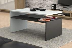 PRIMA biely + antracit (tmavý šedý), konferenčný stolík