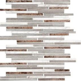 Kamenná mozaika Premium Mosaic Stone šedá 25x30 cm mat STMOS7140MIX1